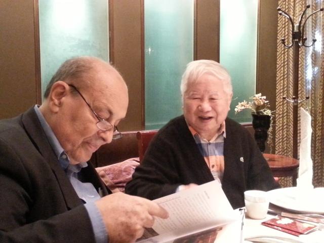Wu Liangyong and Lucio Valerio Barbera in Beijing